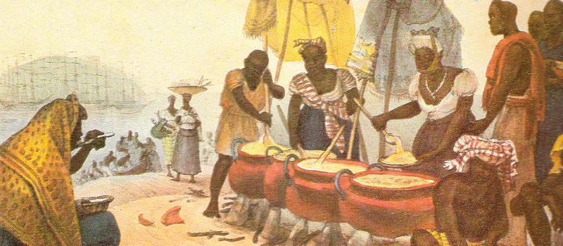 """Tela """"Negras vendedoras de angu"""", de Jean-Baptiste Debret"""